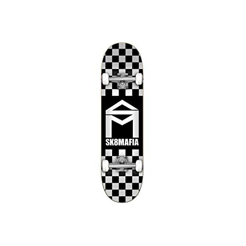 SK8 Mafia Skate Complete House Logo Checker Black 7.87