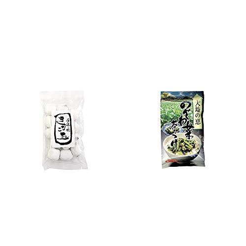 [2点セット] きなこ玉(160g)・特選茶漬け 大地の恵 のざわ菜茶づけ(10袋入)