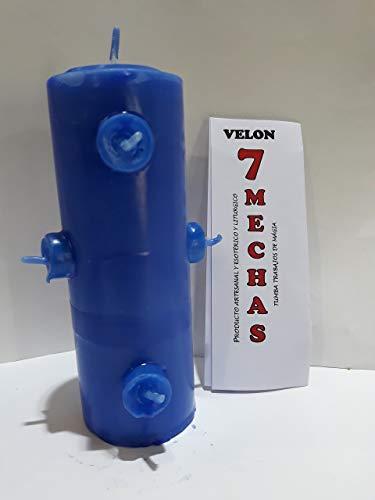 LCL velas VELON 7 MECHAS Color Azul
