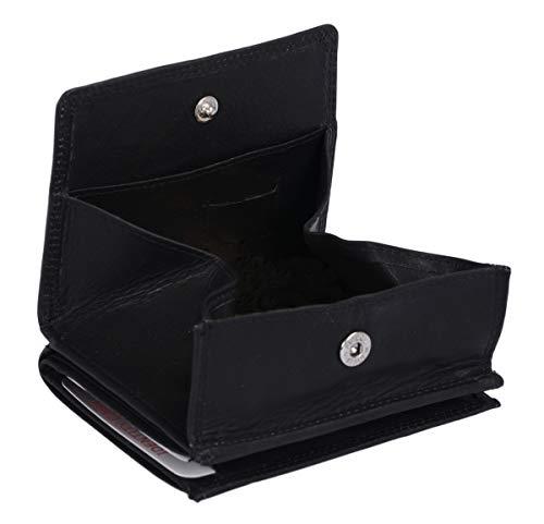 LEAS Wiener Schachtel mit RFID Schutz Echt-Leder, schwarz Special Edition