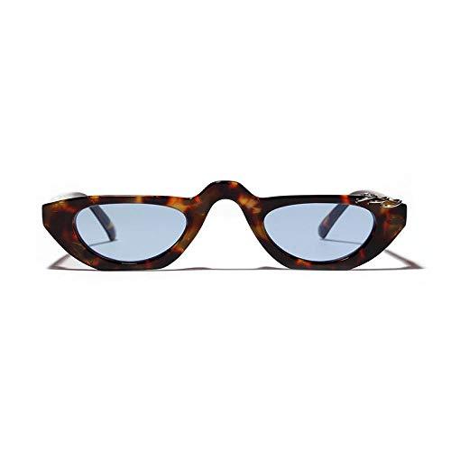 Gafas de Sol Sunglasses Pequeñas Gafas De Sol Rectangulares Vintage para Mujer, Diseñador De Ojo De Gato para Mujer, Anillo, Decoración, Medio Marco, Marca Retro Hip Hop Glass 2