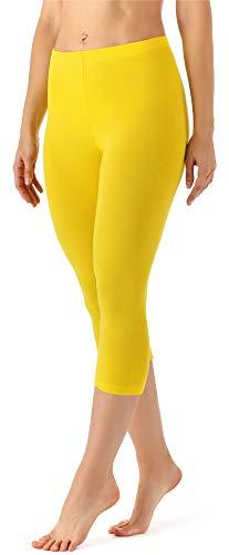 Merry Style Damen Leggings 3/4 aus Viskose MS10-144 (Zitronengelb, L)