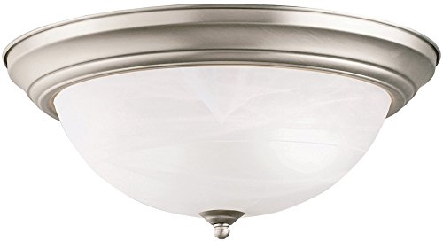 Kichler 8110NI Flush Mount, 3 Light Incandescent 180 Total Watts, Brushed Nickel