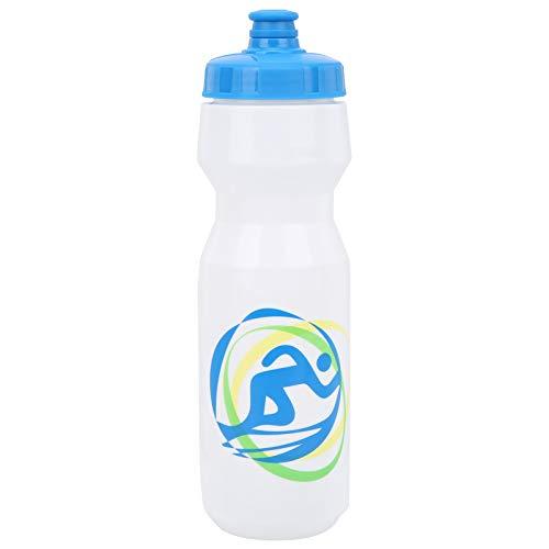 Alomejor Botella de Agua para Bicicleta de 750 ml, hervidor portátil para Bicicleta de montaña, Botella de Agua para Ciclismo al Aire Libre, Deportes(Tapa Azul, Boca)