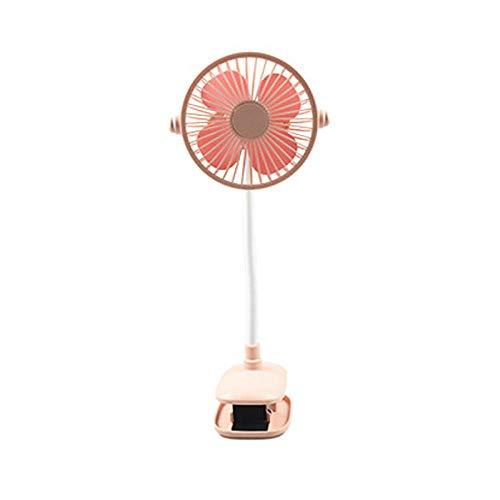 whmyz Mini ventilador de mesa LED con clip de casa USB portátil recargable Mini clip de ventilador Honey Pink_Standard