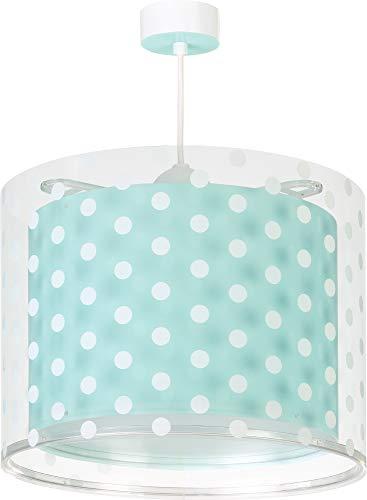 Dalber Lámpara infantil de Techo Dots Puntos Verde, 60 W