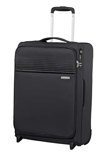 American Tourister Lite Ray Luggage- Carry-On Luggage, Upright S (55 cm - 43 L), Jet Black
