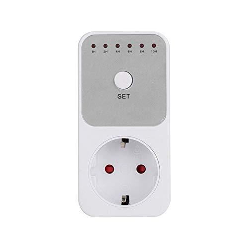 Mini LED 230V 16A 1h-10h Countdown-Timer Schalter Steckdose Steckdose Steckzeitsteuerung für Küchenelektrogerät EU-Stecker weiß DEjasnyfall