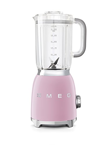 Smeg Batidora BLF01PKEU, 800 W, 1500 milliliters, Vidrio, 4 Velocidades, rosa pastel