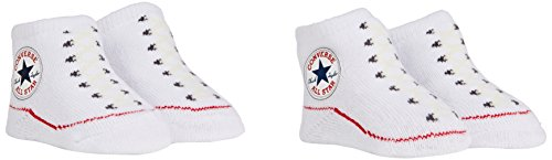 Converse 2 Pack Booties Chaussettes, Blanc (White), FR (Taille Fabricant: 0-6 Mois) Mixte bébé