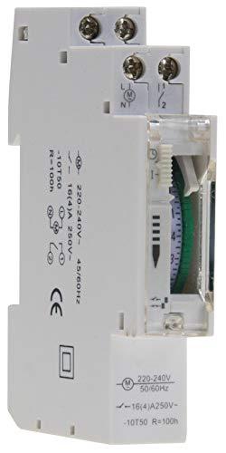 Temporizador diario analógico montaje panel, pasos