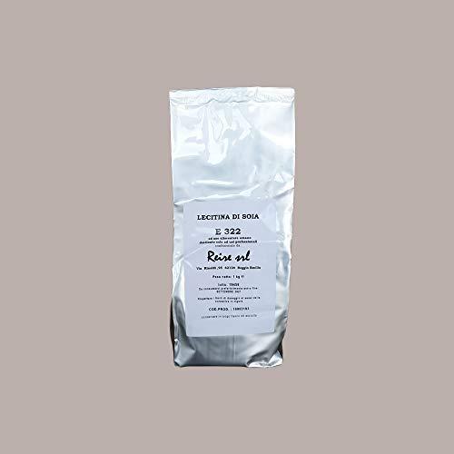 LUCGEL Srl 1 kg Lecitina di Soia E322 Polvere Granulare Cucina Soy Lecithin destinato solo ad USI PROFESSIONALI