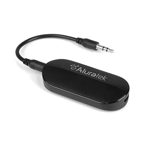 Aluratek Bluetooth Wireless 5.0 Audio Transmitter 3.5mm Adapter aptX Low Latency for TV/Home Sound System (ABT05F)