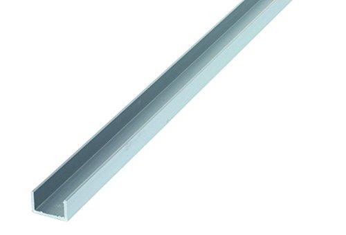 U perfiles de aluminio 10x 20x 1,5mm/1M 1St.