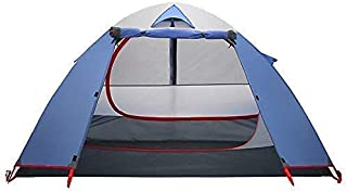 Camping Equipment New Tent Double Layer Aluminum Rainproof Camping Tent for Backpacking Fishing (Color : Blue Size : 230x1...