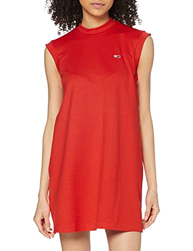 Tommy Hilfiger A- Line Piping Dress vestido, Rojo (Flame Scarlet 667), Small para Mujer