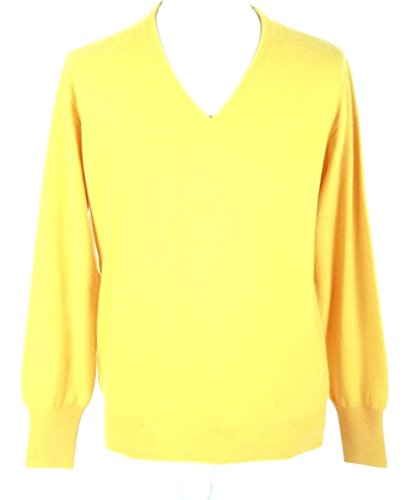 Mens Yellow Cashmere Sweaters