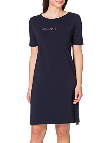 Emporio Armani Underwear Night Dress Basic Cotton Nightgown, Marine, M para Mujer