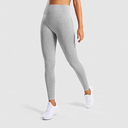Pantalones de Chándal Leggings,Leggings deportivos elásticos de cintura alta, pantalones de yoga deportivos de tiburón sin costuras-Gris claro_L_China,Mujer de Espalda Abierta Yoga Camiseta