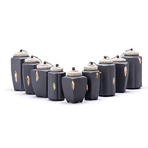 Animal Commemorative Cans, Classic Pet Kat En Hond Urn Tekening Kat Urn Pot Vintage Retro (Color : Hexagon, Size : M)
