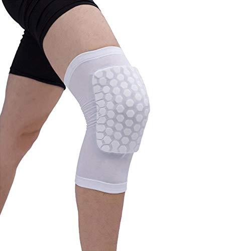 Knieschoner/Knieschoner/Knieschoner, Wabenmuster, elastisch, für Sport/Sicherheit, Weiß, Größe M