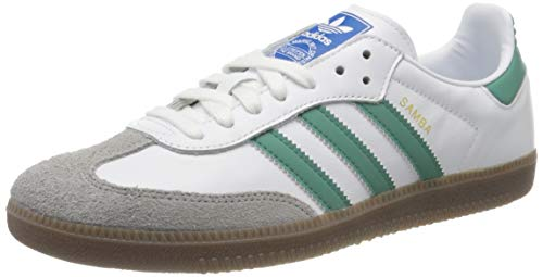 adidas Mens Samba OG Sneaker, Footwear White/Future Hydro/Clear Granite, 42 EU