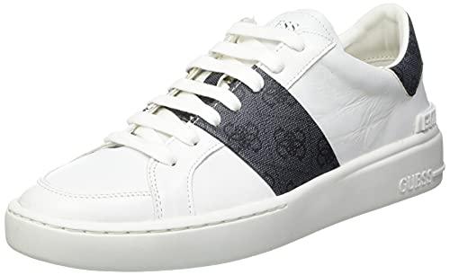 Guess Verona Stripe, Zapatillas Deportivas Hombre, Color Blanco, 43 EU