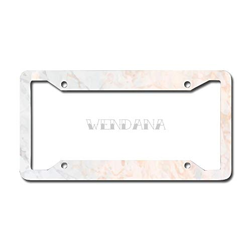 Abstract Marble Pattern License Plate Frame Metal Funny License Plate Cover Auto Car Accessory for Women,Funny Gifts