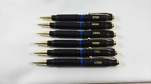 Thin Blue Line 308 Bullet Pen (6 pack) with Flat Black finish