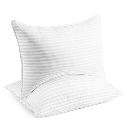 ZHAOSHOP Almohadas de Cama para Dormir - Tamaño de la Reina, Conjunto de 2 - Alergia Suave Amable, enfriamiento, Almohada de Gel de Lujo para Espalda, estómago o durmientes Laterales (tamaño : B)