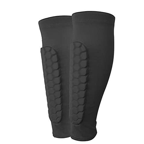 koncy Schienbeinschoner Fußball Kinder Leichte Atmungsaktive Wadenschutzausrüstung für Jungen, Bietet Umfassenden Schutz für die BeineIhrer (Color : Black, Size : L)
