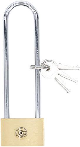 BGS Diy 3103 | Messing-Vorhängeschloss | extra hoher Bügel | 40 mm