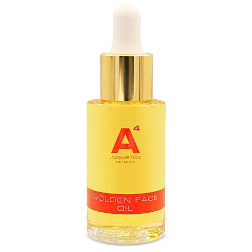 A4 - GOLDEN FACE OIL   Gesichtsöl   Hautberuhigendes Pflegeöl   Gesichtspflege mit Eco-zertifiziertem Arganöl (30ml)