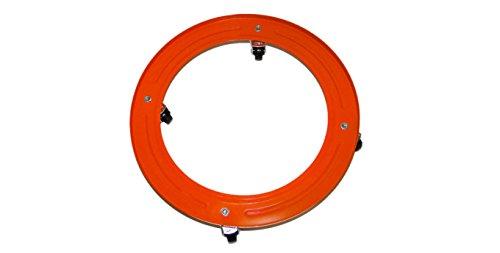 Broncinox 10118 Com Gas 10118-Soporte metálico bombona, Ruedas, Metal, Multicolor, 30x4x30 cm