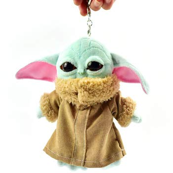 BD 15cm Keychain Baby yoda Plush Toys Child Baby Yoda The Mandalorian