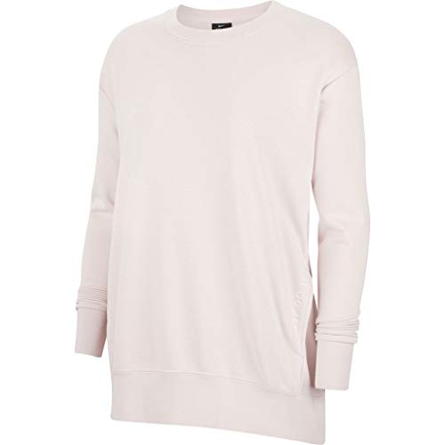 Nike SP2020 Maglione, Barely Rose/White, L Donna