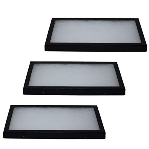Riker Glass Top Display Cases for Collectables, Arrowheads, Medals & More (3 Pack 12 x 8 x 0.75)