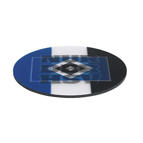 Hamburger SV Untersetzer 3D - 10,5 x 10,5 cm | Antirutsch-Rückseite für sicheren Stand auf Tischen | Motiv wechselt je nach Blickrichtung | 5 Untersetzer [blau/weiß/schwarz mit Logo]