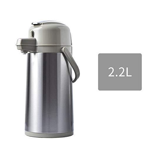 Jingyinyi Pneumatische waterkoker thermoskan, roestvrij stalen thermoskan, thee fles pers, duurzaam
