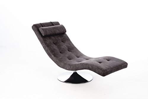 Stones Sleeper Chaise Longue, Similpelle, Grigio Vintage, 60x180xH 90 cm