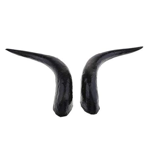 Baoblaze 1 Paar Ochsenhorn Stier Haarreif Teufel Fasching Karneval Halloween Kopfbedeckung Kopfschmuck Tierhörner - 30 cm