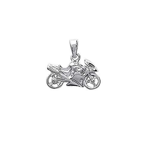 NKlaus massiver Biker 925er Sterlingsilber Silber Motorrad Ketten Anhänger Herren 25x14mm 5064