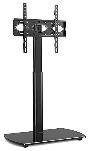 Soporte giratorio para TV para pantallas planas y curvas de 32 a 60 pulgadas con soporte de altura ajustable (color negro)