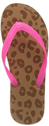 flip*flop Damen Originals Animal Luxe Zehentrenner, Toast/neon pink, 39 EU