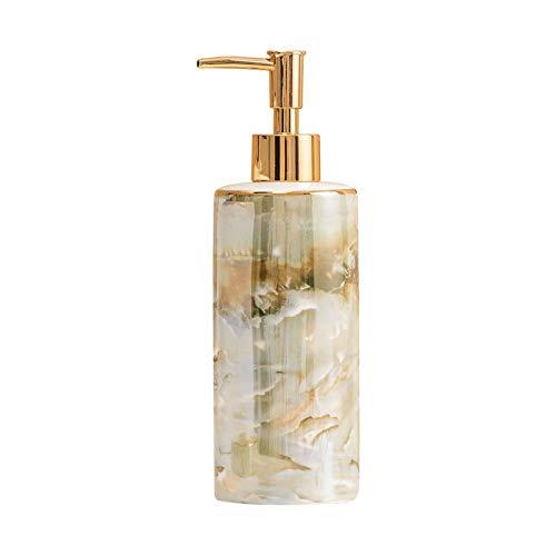 Dispensador automático de desinfectante Dispensador de jabón de cerámica de la textura de mármol hermosa para la cocina del baño de la cocina botella líquida duradera con bomba de oro mate Dispensador