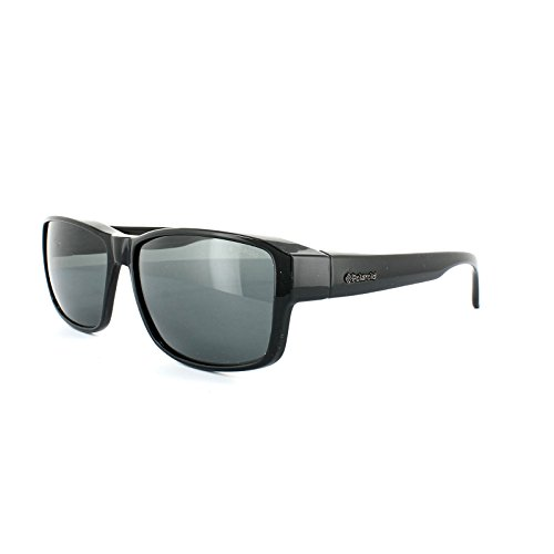 Polaroid Suncovers Fitover Sunglasses P8406 KIH Y2 Black Grey Polarized