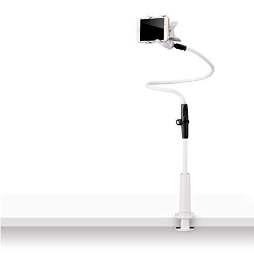 Zller2587 Flexible TeléFono Soporte Soporte para Tablet, Soporte para TeléFono MóVil con Cuello De Cisne Universal para Smartphone, Tablet, Cuello De Cisne, Brazo Largo Flexible 115cm Black