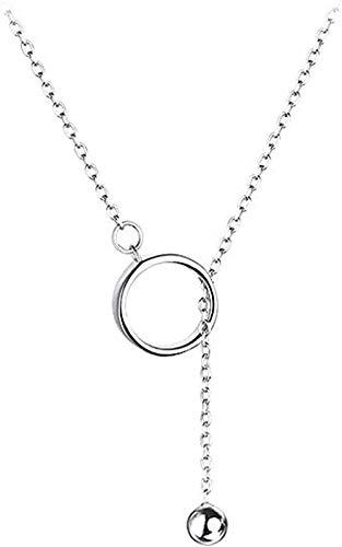 LKLFC Collar Mujer Collar Hombres Colgante Collar geométrico Borla Arcilla Hueso Cadena Collar niñas niños Regalo