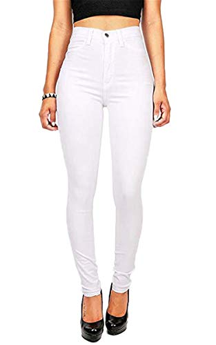 Best Price Andongnywell Women's Juniors Irresistible Denim Jegging Jeans Pants (White,X-Large)