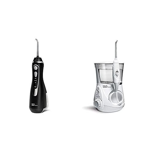 Waterpik Idropulsore Portatile Cordless Advanced, 3 Impostazioni Di Pressione & Idropulsore Dentale Professional Con 7 Testine E Sistema Avanzato Di Controllo Della Pressione Con 10 Impostazioni